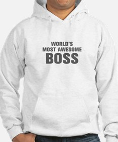 WORLDS MOST AWESOME Boss-Akz gray 500 Hoodie
