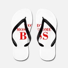 WORLDS MOST AWESOME Boss-Bod red 300 Flip Flops