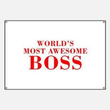 WORLDS MOST AWESOME Boss-Bod red 300 Banner