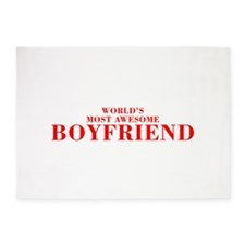WORLDS MOST AWESOME Boyfriend-Bod red 300 5'x7'Are