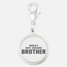 WORLDS MOST AWESOME Brother-Akz gray 500 Charms