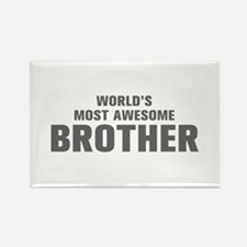 WORLDS MOST AWESOME Brother-Akz gray 500 Magnets