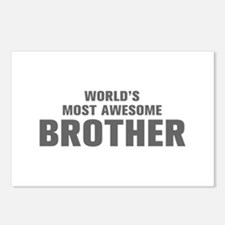 WORLDS MOST AWESOME Brother-Akz gray 500 Postcards
