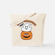 Ghost In Pumpkin Tote Bag