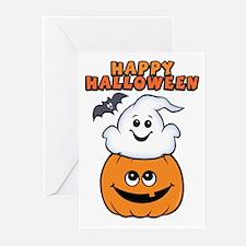 Ghost In Pumpkin Greeting Cards (Pk of 20)