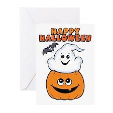Ghost In Pumpkin Greeting Cards (Pk of 10)