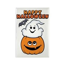 Ghost In Pumpkin Rectangle Magnet (10 pack)