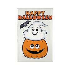 Ghost In Pumpkin Rectangle Magnet