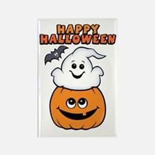 Ghost In Pumpkin Rectangle Magnet