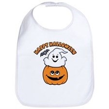 Ghost In Pumpkin Bib