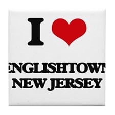 I love Englishtown New Jersey Tile Coaster