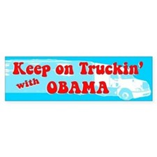 Keep on Truckin' Bumper Bumper Sticker