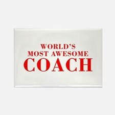 WORLDS MOST AWESOME Coach-Bod red 300 Magnets