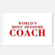 WORLDS MOST AWESOME Coach-Bod red 300 Postcards (P