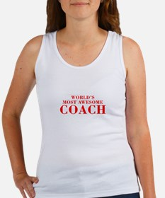 WORLDS MOST AWESOME Coach-Bod red 300 Tank Top