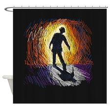 Sunset Zombie Shower Curtain