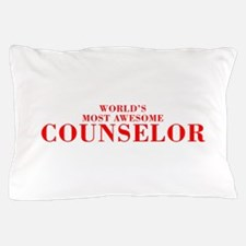 WORLDS MOST AWESOME Counselor-Bod red 300 Pillow C