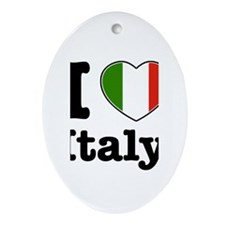 I love Italy Oval Ornament