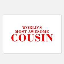 WORLDS MOST AWESOME Cousin-Bod red 300 Postcards (