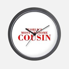 WORLDS MOST AWESOME Cousin-Bod red 300 Wall Clock