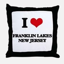 I love Franklin Lakes New Jersey Throw Pillow