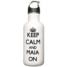 Keep Calm and Maia ON Water Bottle