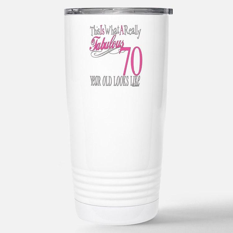 Cute Seventy years old Travel Mug