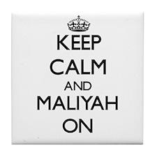 Keep Calm and Maliyah ON Tile Coaster