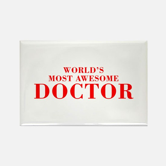 WORLDS MOST AWESOME Doctor-Bod red 300 Magnets