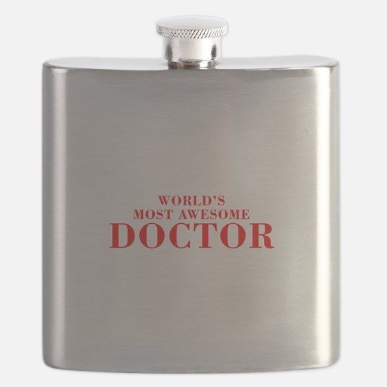 WORLDS MOST AWESOME Doctor-Bod red 300 Flask