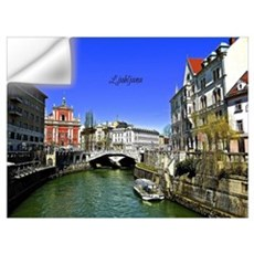 Ljubljana, Slovenia photograph Wall Decal