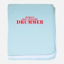 WORLDS MOST AWESOME Drummer-Bod red 300 baby blank