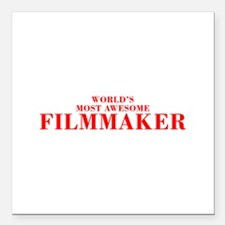 WORLDS MOST AWESOME Filmmaker-Bod red 300 Square C