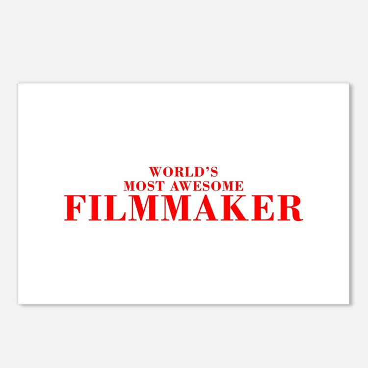 WORLDS MOST AWESOME Filmmaker-Bod red 300 Postcard