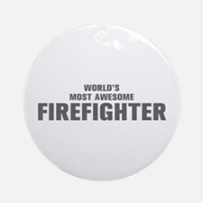 WORLDS MOST AWESOME Firefighter-Akz gray 500 Ornam