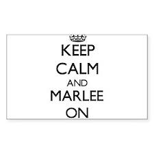 Keep Calm and Marlee ON Decal