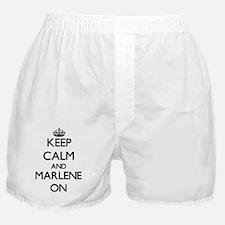 Keep Calm and Marlene ON Boxer Shorts