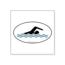 """Unique Swim Square Sticker 3"""" x 3"""""""