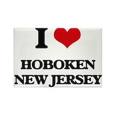 I love Hoboken New Jersey Magnets