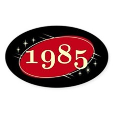 Year 1985 Black/Red Neo Retro Oval Decal