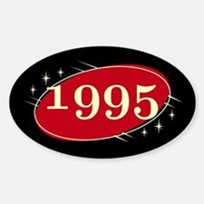 Year 1995 Black/Red Neo Retro Oval Decal