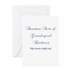 RAOGK Genealogy Greeting Card