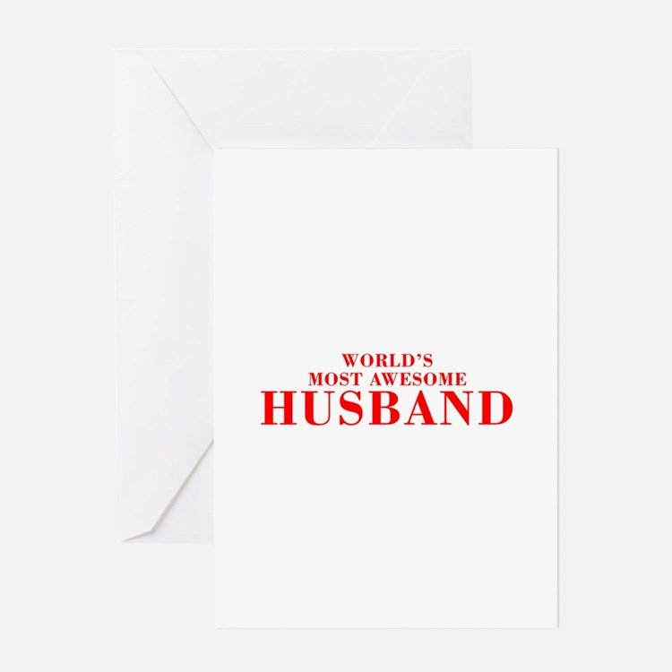 WORLDS MOST AWESOME Husband-Bod red 300 Greeting C