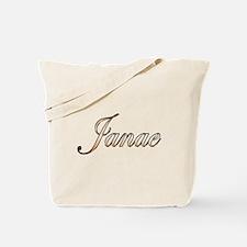 Gold Janae Tote Bag