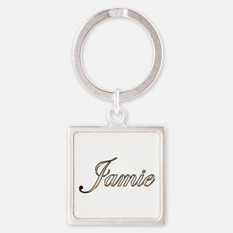 Gold  Square Keychain