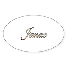 Gold Janae Decal