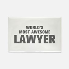 WORLDS MOST AWESOME Lawyer-Akz gray 500 Magnets