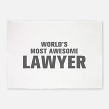 WORLDS MOST AWESOME Lawyer-Akz gray 500 5'x7'Area