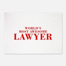WORLDS MOST AWESOME Lawyer-Bod red 300 5'x7'Area R
