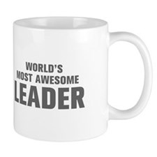WORLDS MOST AWESOME Leader-Akz gray 500 Mugs